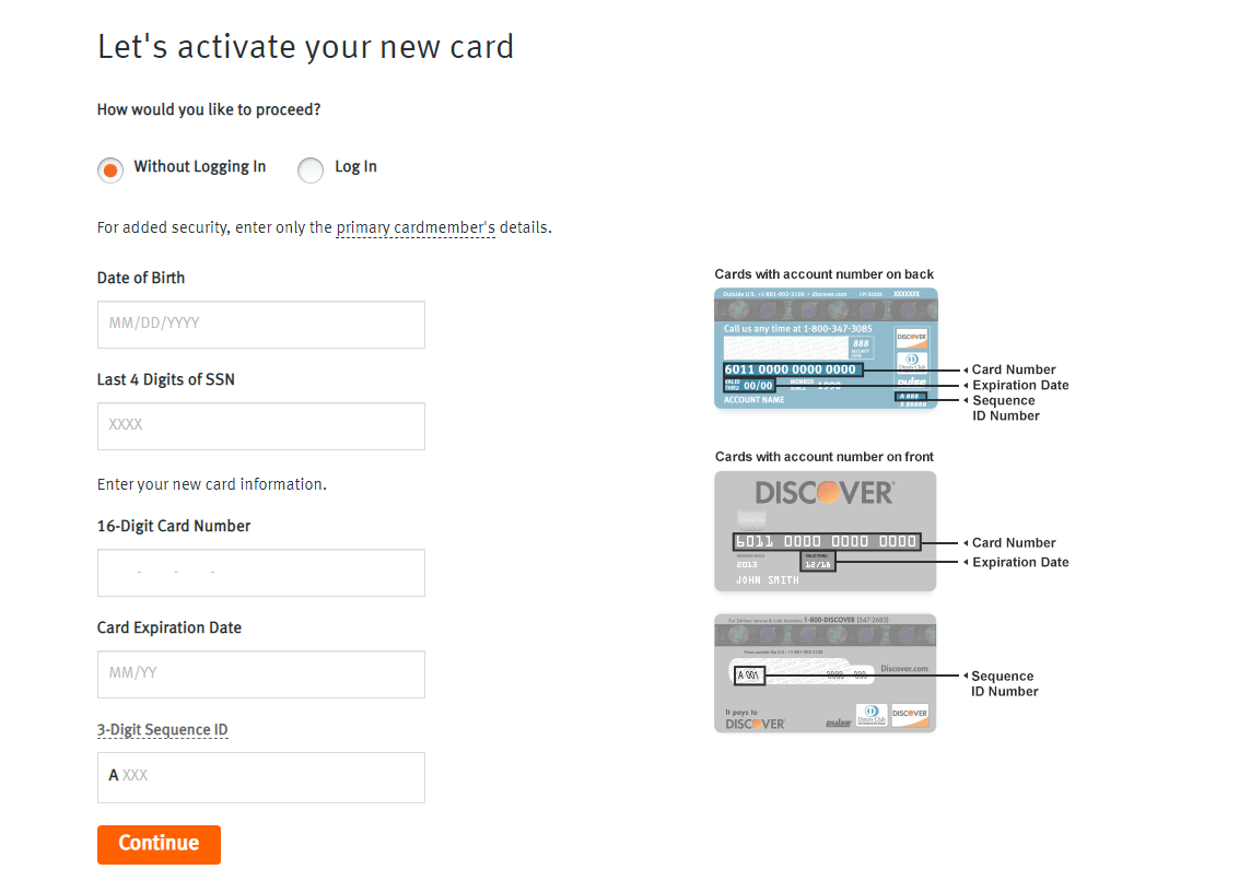 Activate Your New Discover Card