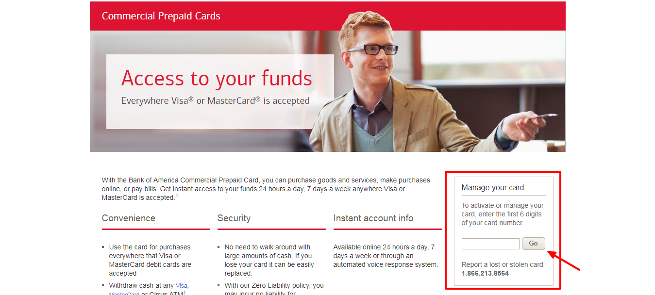 Commercial Prepaid Cards from Bank of America