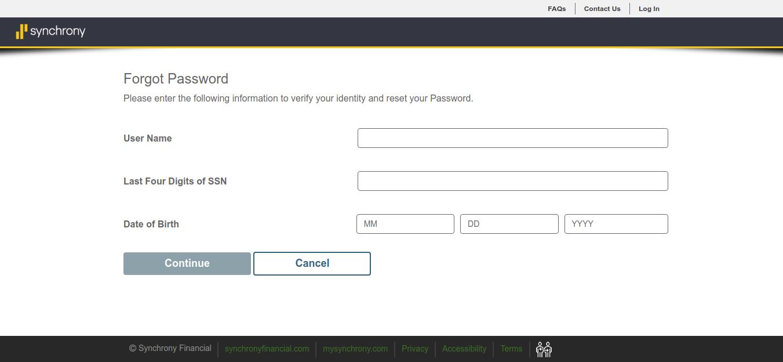Consumer Center Forgot Password