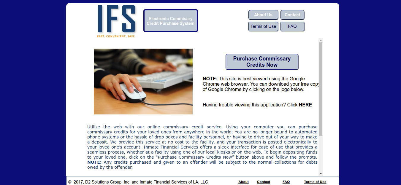 Www Inmatefinancial Com How To Access Inmate Financial To Purchase Commissary Credits