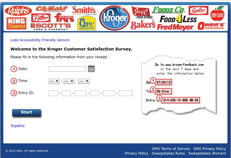 Kroger Customer Satisfaction Survey Welcome