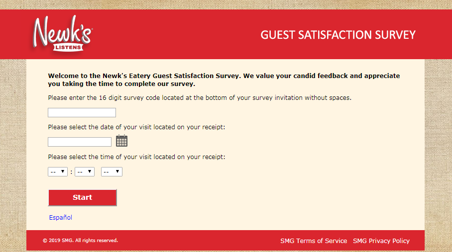 Newk s Eatery Guest Satisfaction Survey Welcome