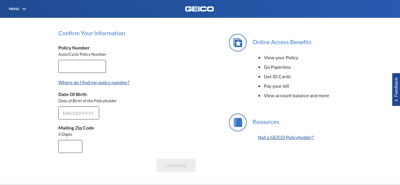 Online Activation GEICO