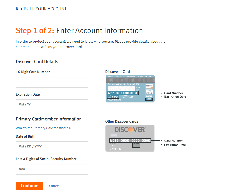 Register Your Account