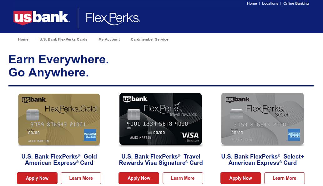 U S Bank FlexPerks Cards Logo