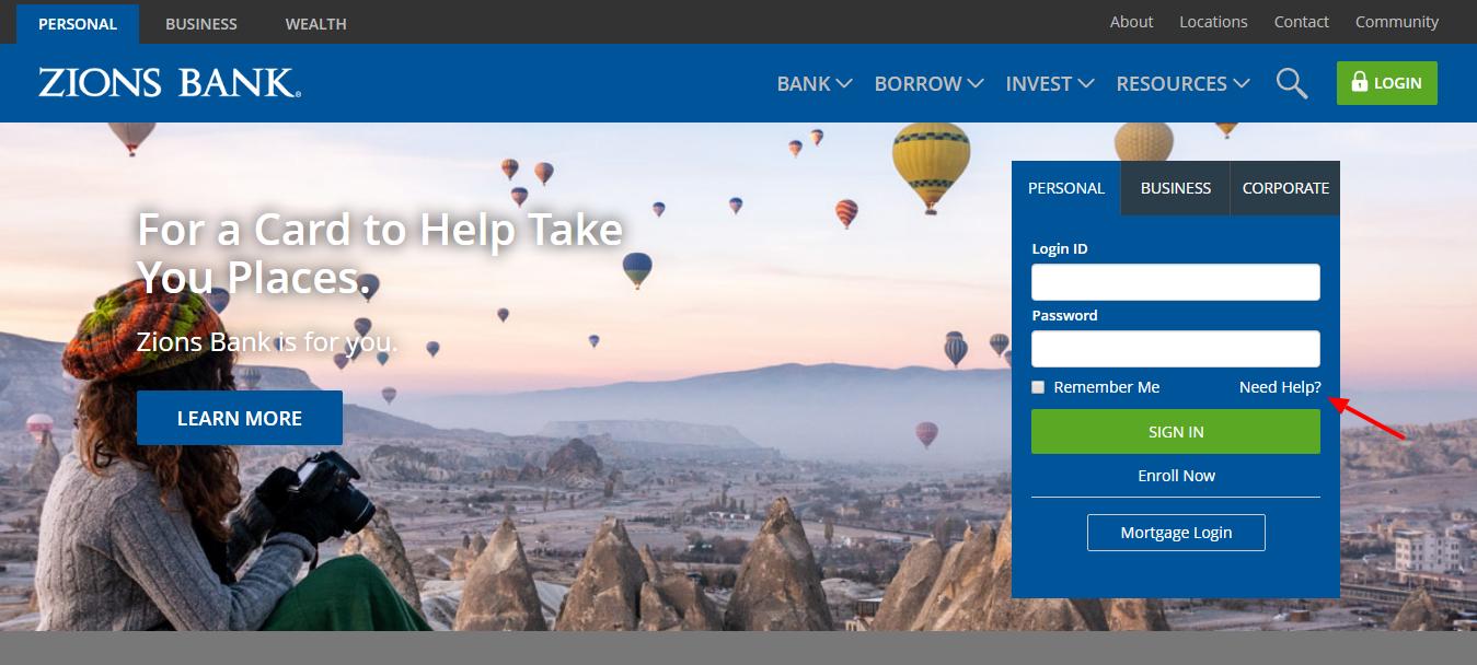Zions Bank Need Help
