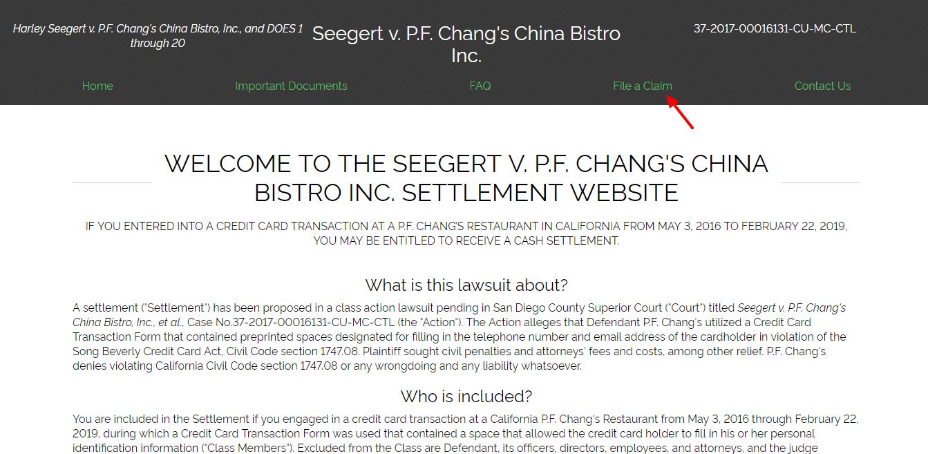 Home Seegert v P F Chang s China Bistro