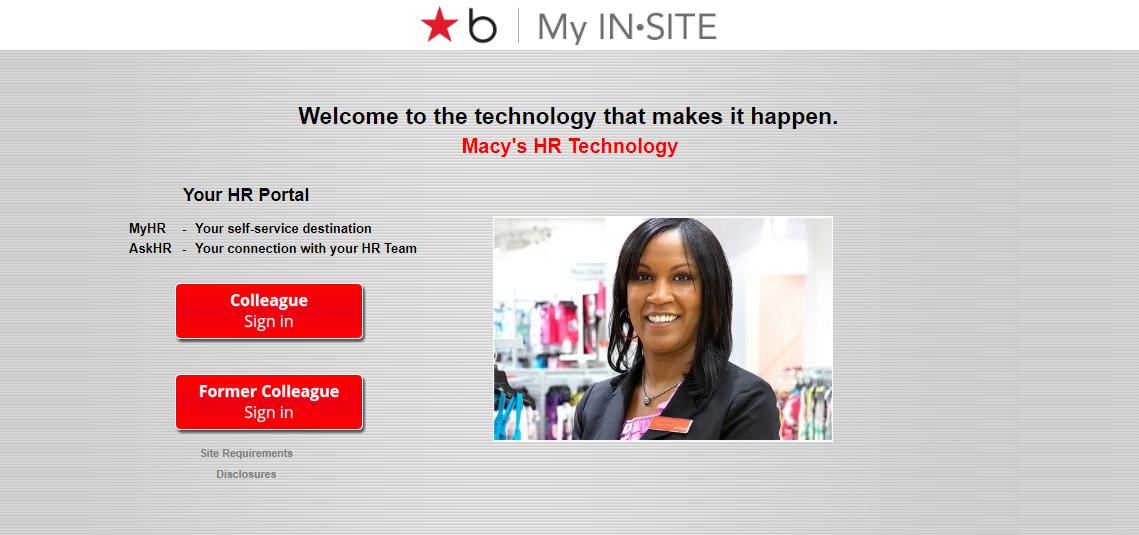 Login Process For Macy's My IN-SITE Online Portal