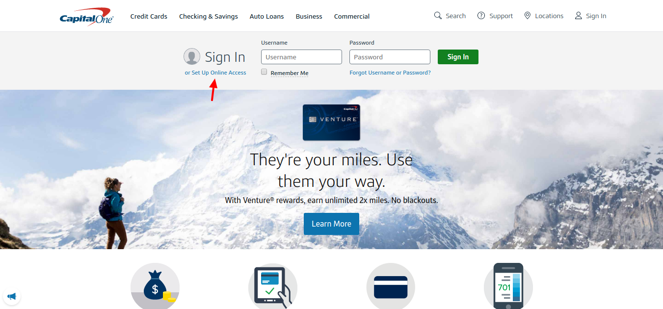 Capital one credit card login online payment