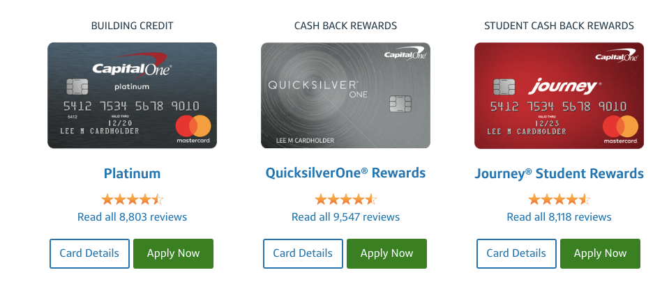 Application capital one credit card