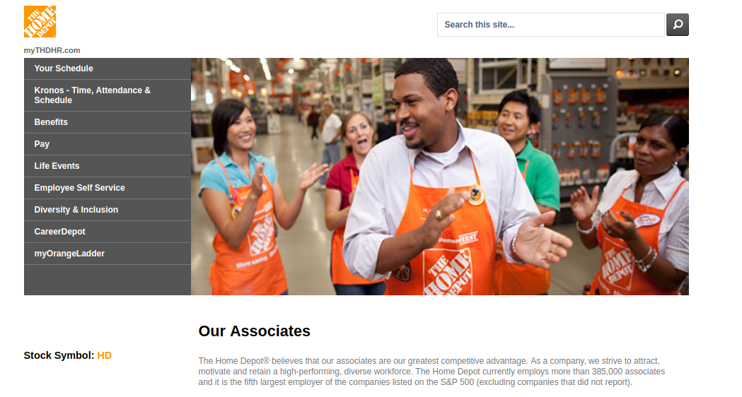 Home Depot Employee Benefits >> Www Mythdhr Com Employee Login Guide For Home Depot