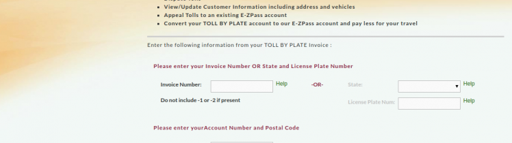Login - TOLL BY PLATE