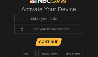 NBC Sports Activate your device