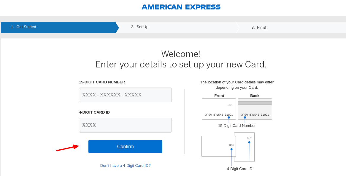 American Express New Card Register