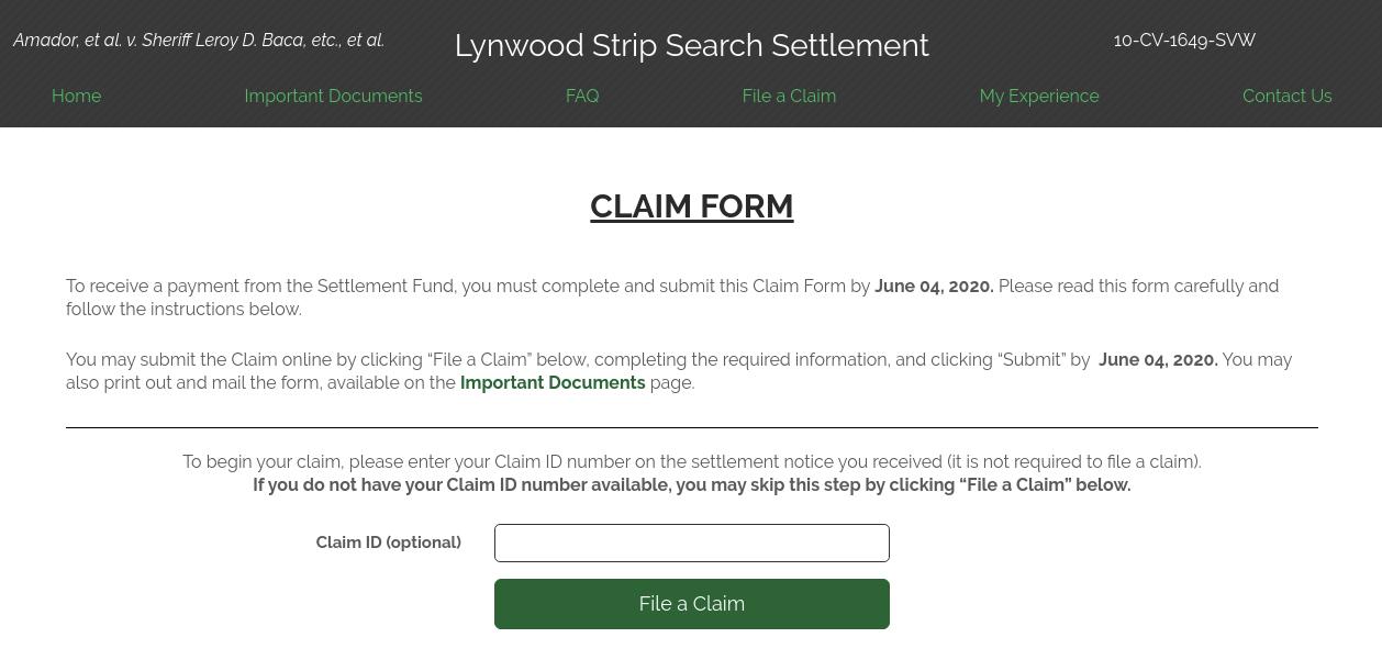 Lynwood File A Claim