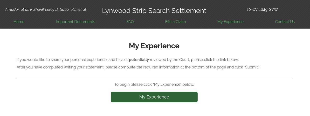 Lynwood My Experience