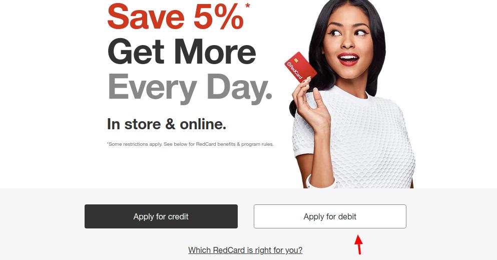 RedCard Target Apply Debit Card