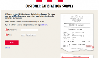 KFC Customer Feedback Survey