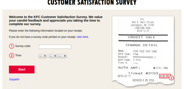KFC Customer Feedback Survey