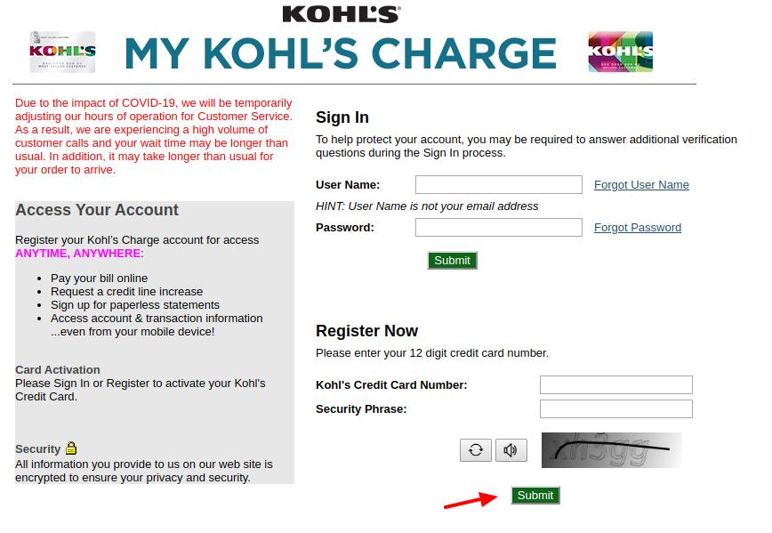 Kohl's Register