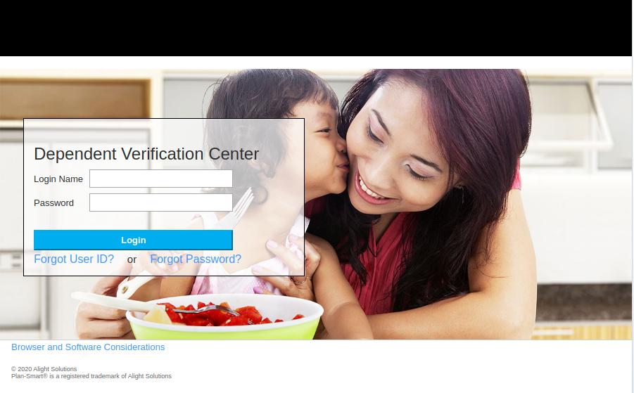 Dependent Verification Login