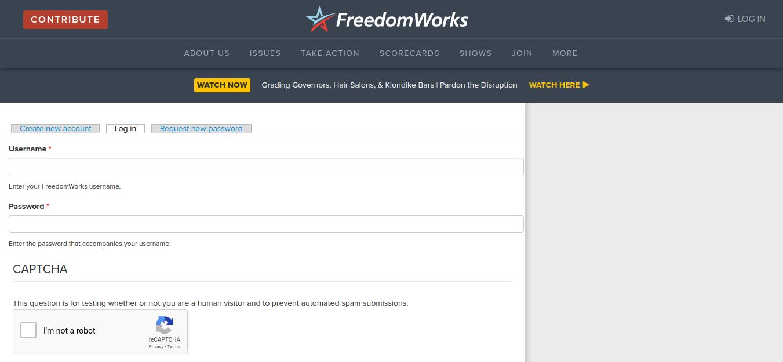 FreedomWorks Login
