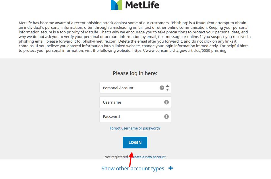 MetLife Insurence Login