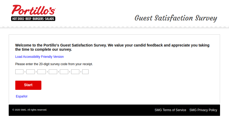 Portillos Guest Satisfaction Survey