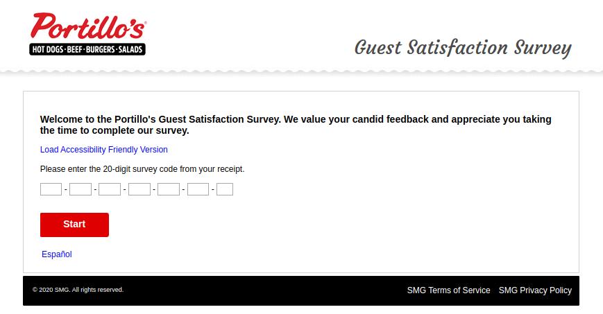 Portillos Guest Satisfaction Survey