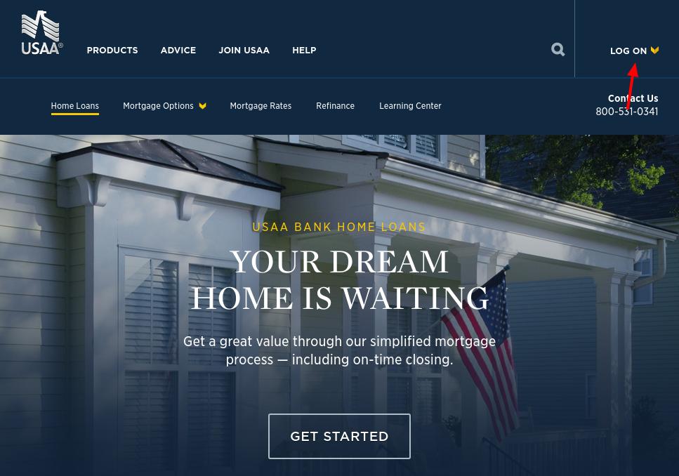 USAA mortgage Login