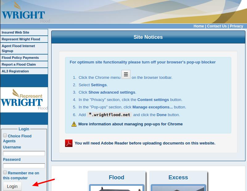 Wright National Flood Insurance Login