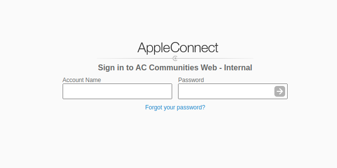 AppleConnect Sign In