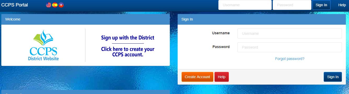 CCPS Login Portal