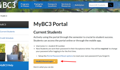 MyBC3 Portal Login