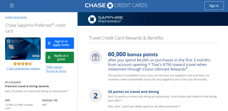 Chase Sapphire Card Logo