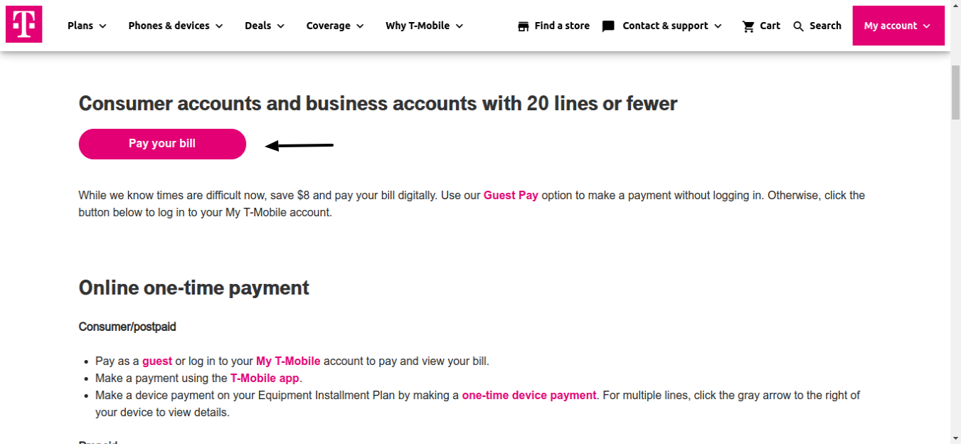 Pay Your T Mobile Bill