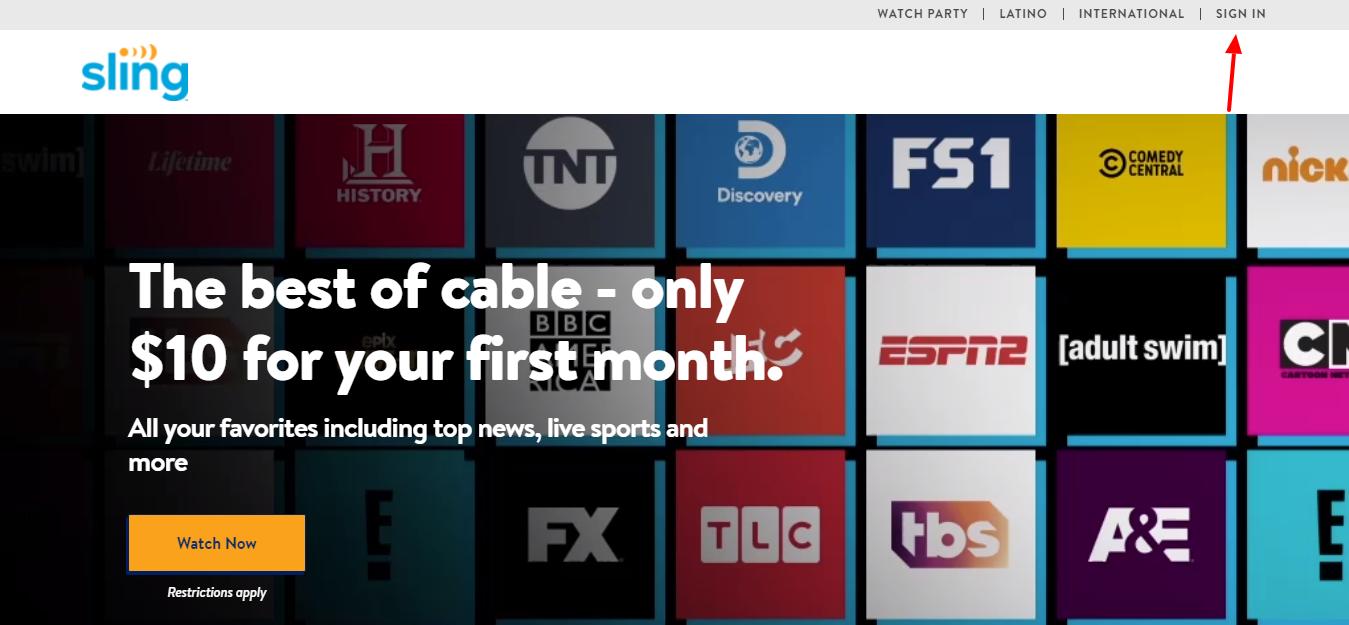 Streaming Sling TV Login