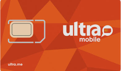 Ultra Mobile sim card logo