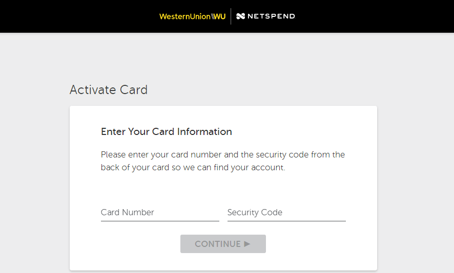 Western Union Netspend Card Activate