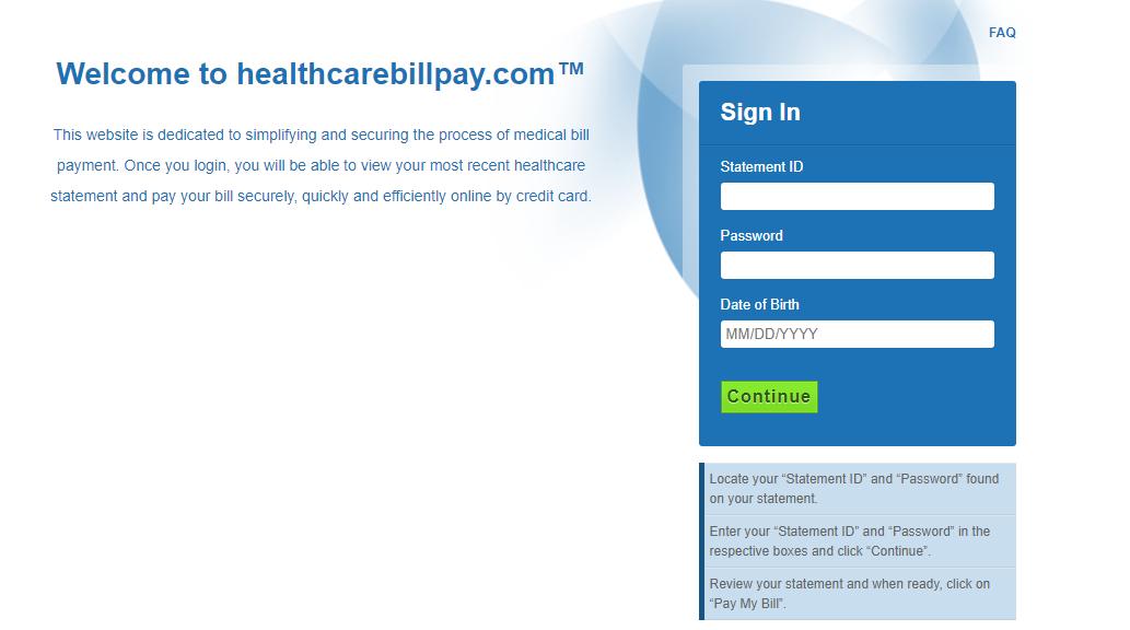 healthcare bill pay login